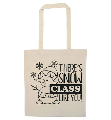 There's snow class like you natural tote bag