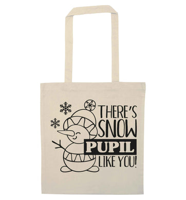 There's snow pupil like you natural tote bag