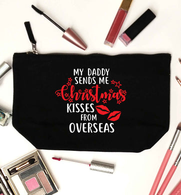 Daddy Christmas Kisses Overseas black makeup bag