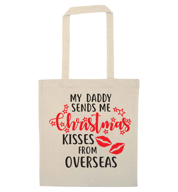 Daddy Christmas Kisses Overseas natural tote bag