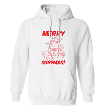 Daddy Christmas Kisses Overseas adults unisex white hoodie 2XL