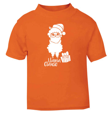 Llama Clause orange baby toddler Tshirt 2 Years