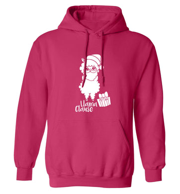 Llama Clause adults unisex pink hoodie 2XL