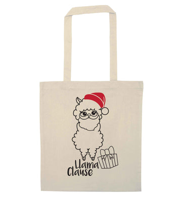 Llama Clause natural tote bag