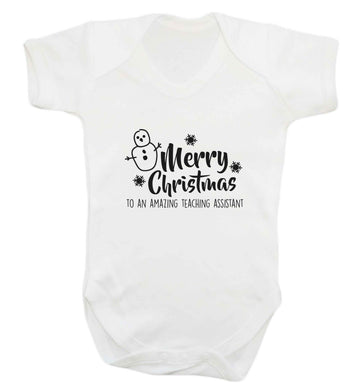 Merry christmas to my teacher baby vest white 18-24 months