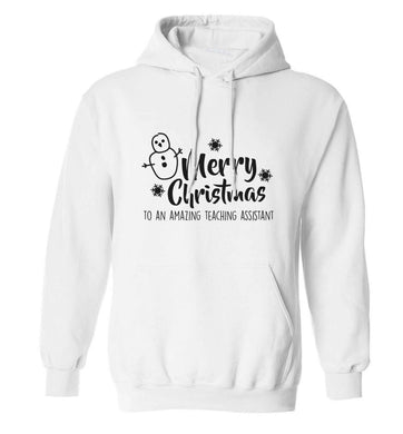 Merry christmas to my teacher adults unisex white hoodie 2XL
