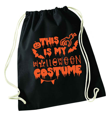 This is my halloween costume black drawstring bag