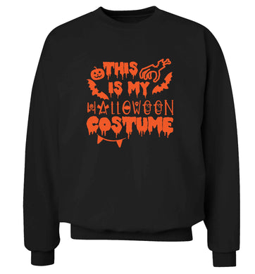 This is my halloween costume adult's unisex black sweater 2XL