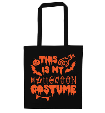 This is my halloween costume black tote bag