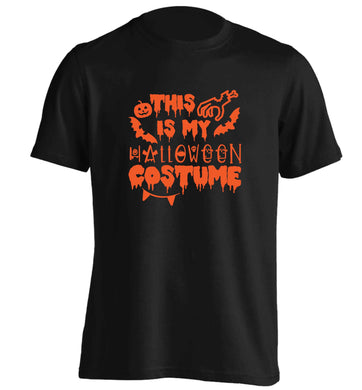 This is my halloween costume adults unisex black Tshirt 2XL