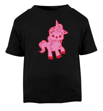 Zombie unicorn zombiecorn Black baby toddler Tshirt 2 years