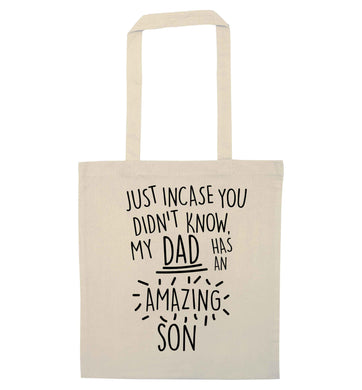 Just incase you didn't know my dad has an amazing son natural tote bag