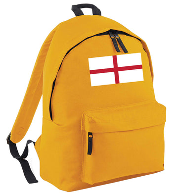 England Flag mustard adults backpack