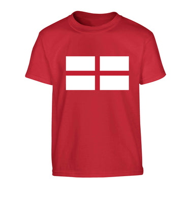 England Flag Children's red Tshirt 12-13 Years