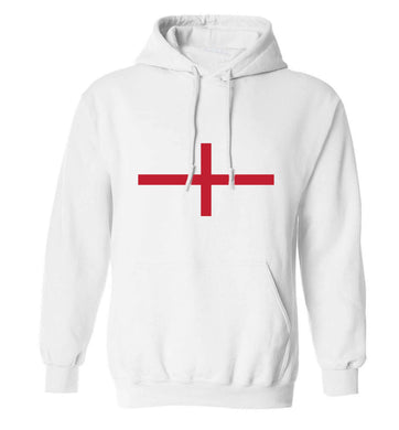England Flag adults unisex white hoodie 2XL