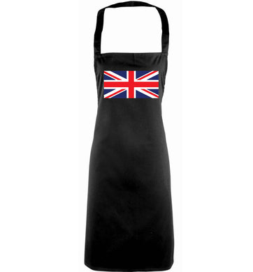 Union Jack adults black apron