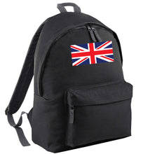 Union Jack black adults backpack
