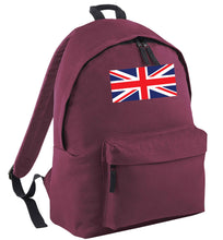 Union Jack maroon adults backpack