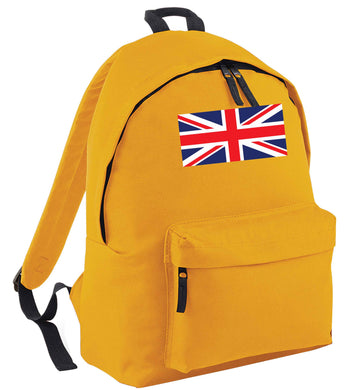 Union Jack mustard adults backpack