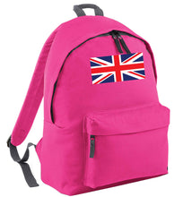 Union Jack pink adults backpack