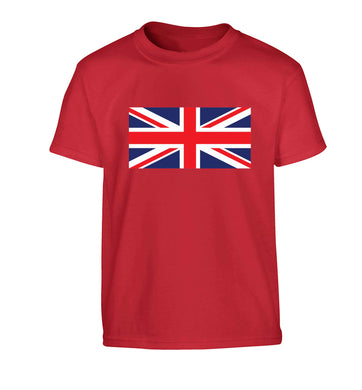 Union Jack Children's red Tshirt 12-13 Years