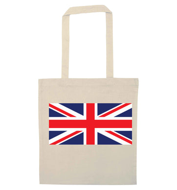 Union Jack natural tote bag