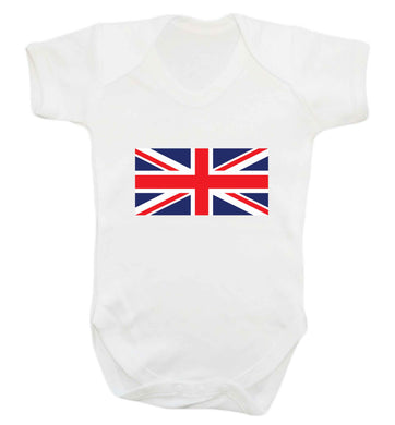 Union Jack baby vest white 18-24 months