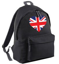 Union Jack Heart black adults backpack