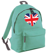 Union Jack Heart mint adults backpack