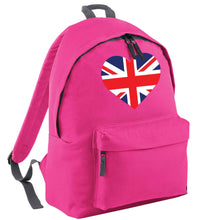 Union Jack Heart pink adults backpack