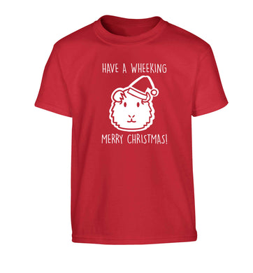Have a wheeking merry Christmas Children's red Tshirt 12-13 Years
