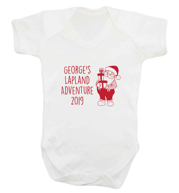 Personalised Lapland adventure - santa baby vest white 18-24 months