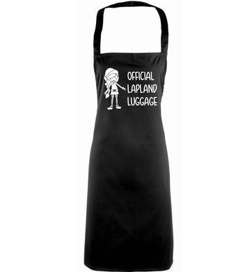 Official lapland luggage - Elf snowflake adults black apron