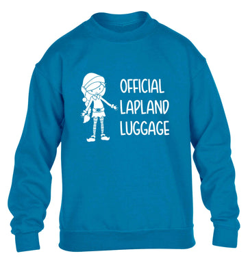 Official lapland luggage - Elf snowflake children's blue sweater 12-13 Years
