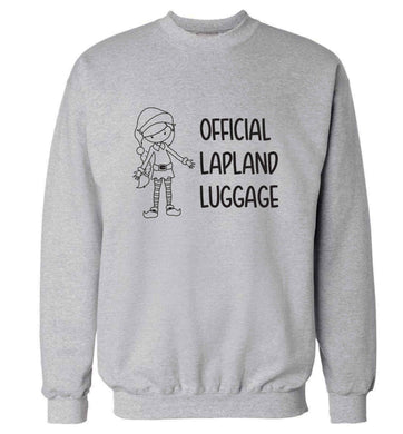 Official lapland luggage - Elf snowflake adult's unisex grey sweater 2XL