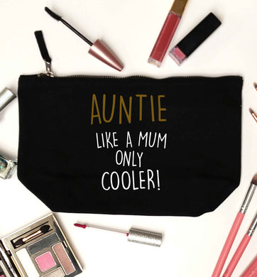 Auntie like a mum only cooler black makeup bag