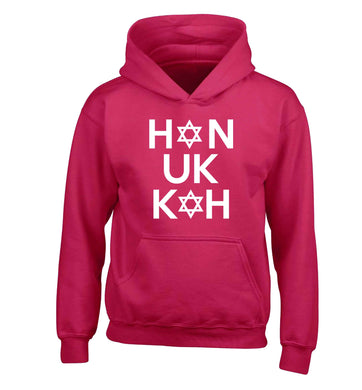 Han uk kah  Hanukkah star of david children's pink hoodie 12-13 Years