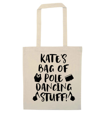 Best Things Happen Dancing natural tote bag