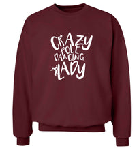Best Things Happen Dancing adult's unisex maroon sweater 2XL