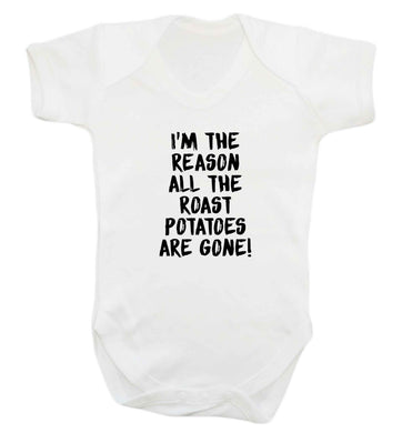 I'm the reason all the roast potatoes are gone baby vest white 18-24 months