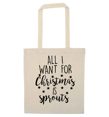 All I want for Christmas is sprouts natural tote bag