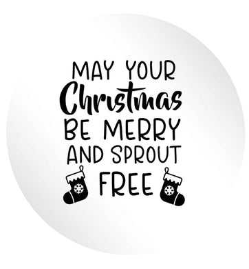 May your Christmas be merry and sprout free 24 @ 45mm matt circle stickers