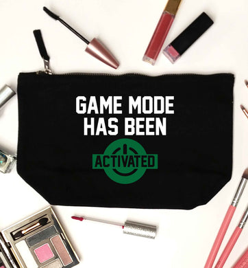 Game mode has been activated black makeup bag