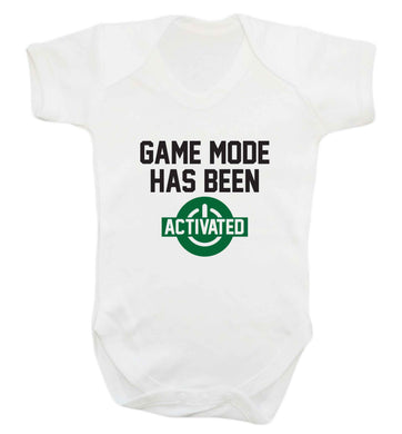 Game mode has been activated baby vest white 18-24 months