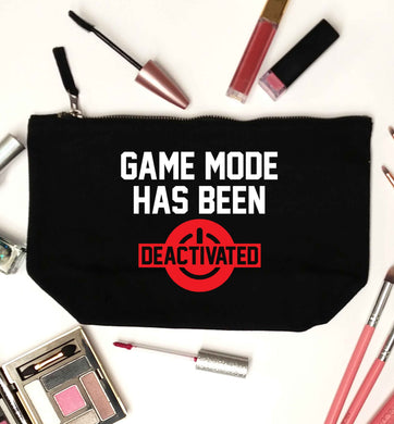 Game Mode Has Been Deactivated black makeup bag