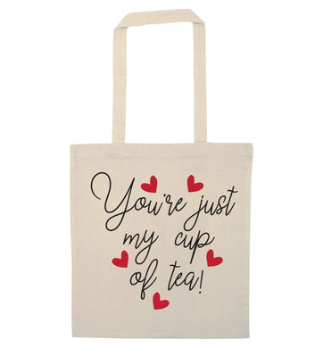 You're just my cup of tea natural tote bag