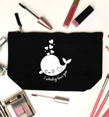 I whaley love you black makeup bag
