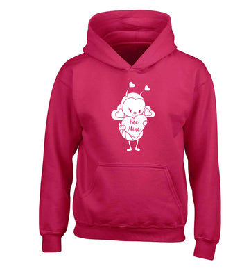 Bee mine children's pink hoodie 12-13 Years