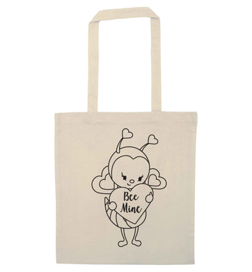 Bee mine natural tote bag