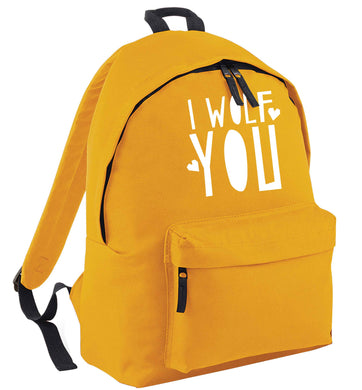 I wolf you mustard adults backpack
